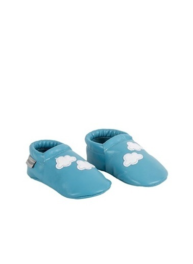 Kids A More Cloud Step Unisex Yeni Doğan&Ilk Adım Deri Patik  Mavi